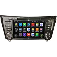 KUNFINE Android 6.0 Otca Core Car DVD GPS Navigation Multimedia Player Car Stereo For Nissan QashQai/X-Trail 2014 Radio Head unit Steering Wheel Control With 3G Wifi Bluetooth Free Map Update 8 Inch