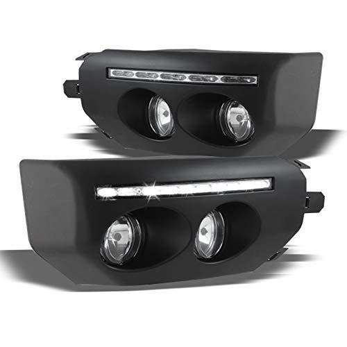 Aftermarket Accessories Fj Cruiser (Xtune 2007-2014 FJ Cruiser Bumper To Fog Lights Conversion Day Running Light Built-In 2008 2009 2010 2011 2012 2013 Pair L+R)