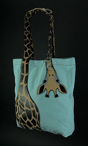 Sleepyville Critters  87710CN GREEN, Damen Tote-Tasche Blau blau One Size