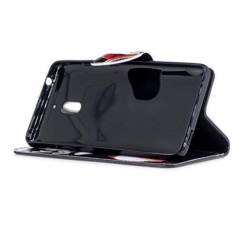 Stand 2 Cas 2 Téléphone PU Coque Etui Nokia 2018 Housse pour 2 Wallet Housse Coque Folio Nokia Leather 2018 2 1 BONROY de Luxe Case Nokia Pochette fesses Magnétique Nokia Rabat à 1 Cover Cuir Protection qPqgUHp
