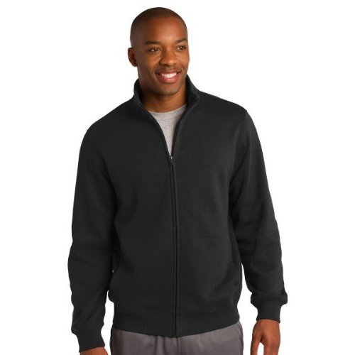 Sport-Tek Men's Full Zip Sweatshirt - Black ST259 L