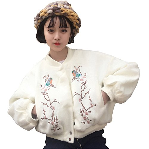 para Weiß Universidad Manga clothing COCO Larga Abrigo Mujer qwT7pF16xF