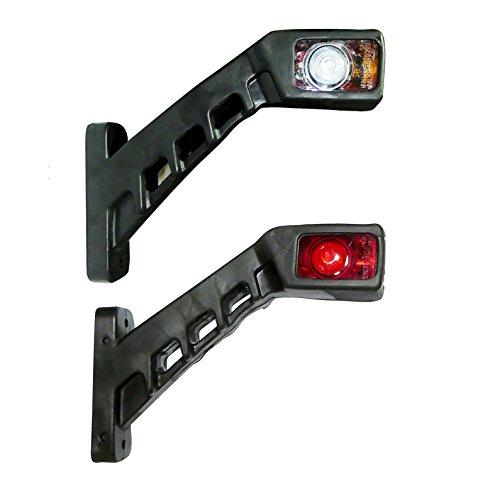 2 X 8 LED SIDE RUBBER MARKER LIGHTS LAMP INDICATOR TRAILER TRUCK 12V OUTLINE