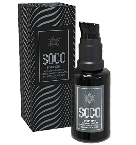 Organic Anti Aging Oil Serum - Exquisite Essential Oil Blend for Face with Sea Buckthorn, Argan, Neroli, Rosehip and CoQ10 - SOCO Botanicals