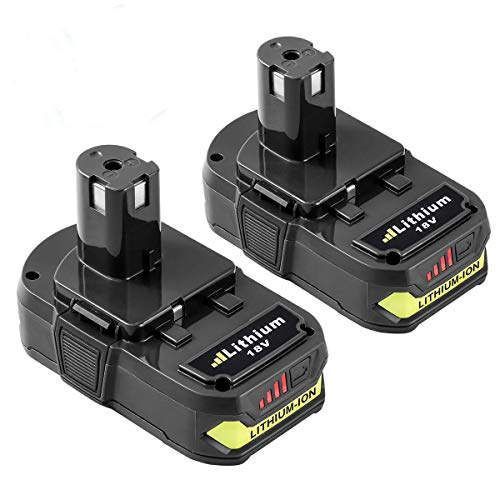 2.5Ah Replace for Ryobi 18V ONE+ Lithium ion Battery with LED Indicator P102 P103 P104 P105 P107 P108 P109 Cordless Power Tools of 2 Packs