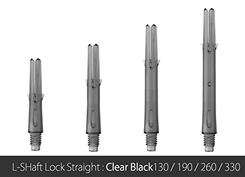 L-shaft Locked Straight Clear Black 260 Dart Shaft Set of 3