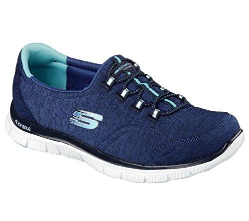 Skechers Womens Flex Appeal Blu Navy
