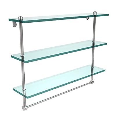 """Allied Brass PR-5/22TB-PEW 22"""" Triple Glass Shelf with TB Satin Chrome"""
