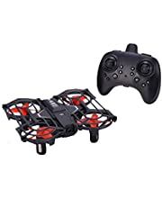 RC Drone 2.4G 4CH Intelligent Gesture Sensing Controlled Aircraft 6 Axis 3D Flips RTF Dual-Mode Remote Control Quadcopter For Kids Children (Black)