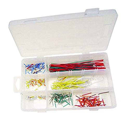 TEKTRUM BREADBOARD JUMPER WIRE KIT (350 PIECES SOLID WIRE) ()