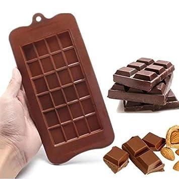 Molde de silicona para tartas de azúcar, bloque de chocolate, molde cuadrado de silicona para horno, bloque de barras de hielo: Amazon.es: Hogar