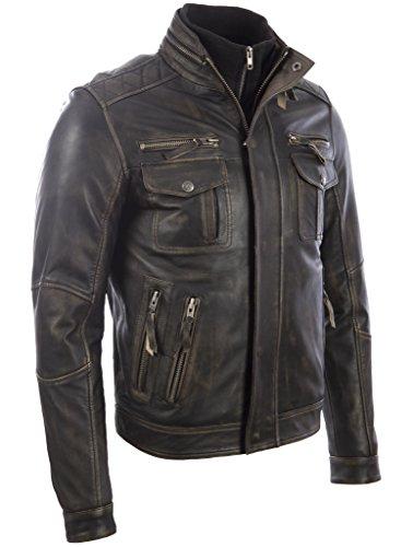 Moto Pelle Uomo Giacca Vera Mdk Speciale Stile Da Vintage qxzwtYrz