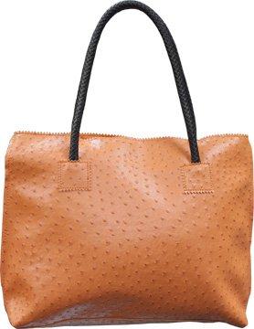 Femina Exotic Ostrich Orange Shoulderbag Purse with a (Orange Ostrich)