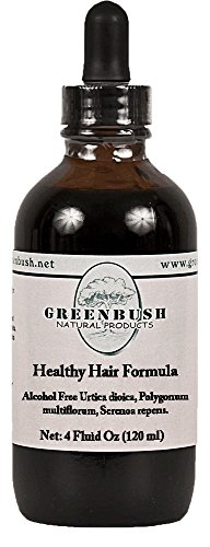 Healthy Hair Formula Alcohol-Free Liquid Concentrated Extract. Super Value Size 4oz Bottle (120ml) 240 Doses of 500mg. Top Herbs for Hair Regrowth, Beauty, Renewal and Health. for Men and Women.