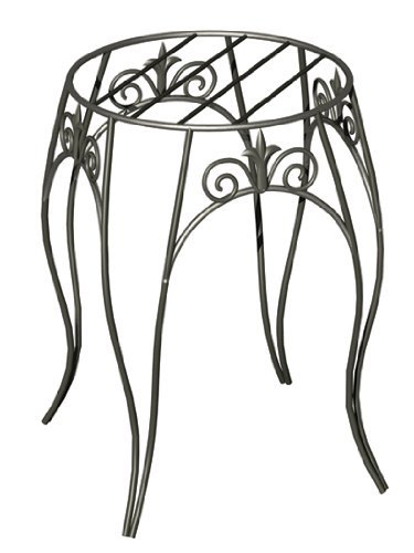 Panacea 89175  Plant Stand with Finial, 15-Inch, Black (Stand Plant Single)