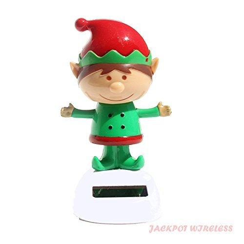 (1 X Solar Powered Dancing Christmas Elf by Jackpot Wireless)