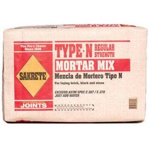 (SAKRETE of North America 65300039 Type N Mortar Mix, 40 lb)