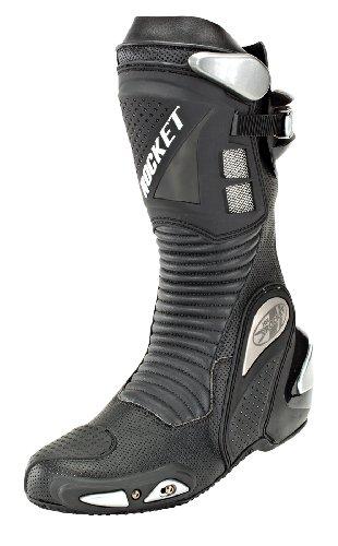 Joe Rocket Speedmaster 3.0 Men's Leather Race Boots (Black, Size 11)