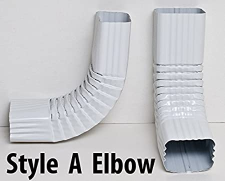 2x3 and 3x4 Downspout Gutter Elbows 90 Degree, Style B, 2x3, Royal Brown 75 Degree 90 Degree 45 Degree Choose from 30 Degree