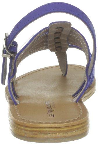 Les Tropéziennes - Sandalias de cuero para mujer Azul (bleu Royal)