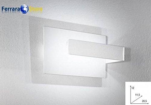 Applique a led w colore bianco serie lambda k amazon