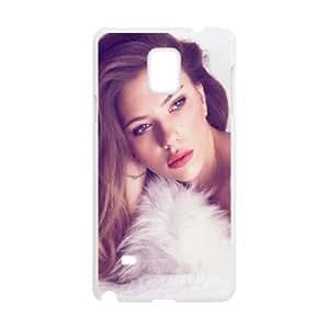 Samsung Galaxy Note 4 Cell Phone Case White_Beautiful Scarlett Johansson Jybik