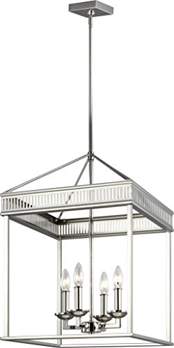 Feiss F3275/4PN Woodruff Candle Chandeliers Lighting, 16