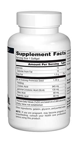 Evening Primrose Oil Hexane-Free 1350 mg 120 Softgel Pack of 2