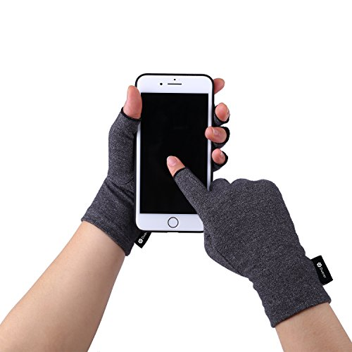 Duerer-Arthritis-Gloves-Women-Men-for-RSI-Carpal-Tunnel-Rheumatiod-Tendonitis-Fingerless-Hand-Thumb-Compression-Gloves-Small-Medium-Large-XL-for-Pain-Relief-Medium-Black