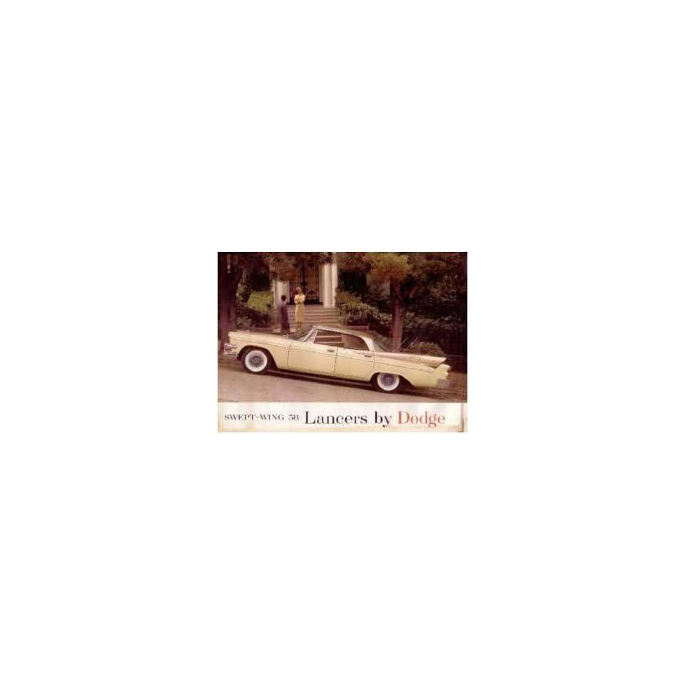 1958 Dodge Lancer Sales Brochure Literature Book Advertisement Options Specs