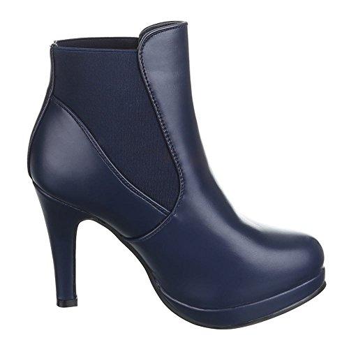 Ital-Design - Botas de Material Sintético para mujer Azul - azul oscuro