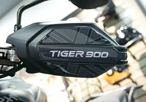 2 x 3D-gel-handbescherming voor motorfiets, compatibel met Triumph Tiger 900 GT en Rally