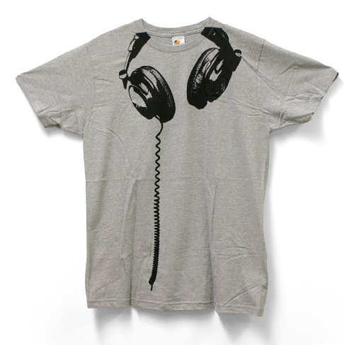 Regular Xxl Heather - Impact Headphones Big Print Subway Fitted Jersey Tshirt-Heather-XX-Large