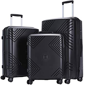 Image of GinzaTravel Anti-scratch Widened and thickened large capacity Luggage 3 Piece Sets 8-wheel Spinner Luggage setsExpandable(all 20 24 28) Luggage