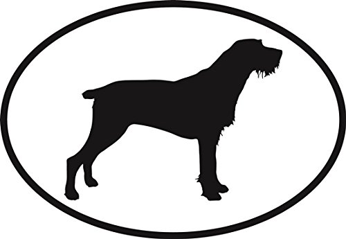 German Wirehaired Pointer Oval Sticker