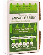 Miracle Berries by Miracle Berry, freeze dried 100% Miracle fruit, 10 berry halves, Non-GMO, Grown in the USA, Makes sour sweet, Great for everyday use