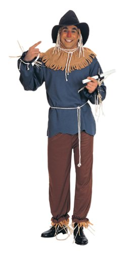 Wizard Of Oz Halloween Costumes For Adults (Wizard Of Oz Scarecrow Adult Costume, Blue, Standard)