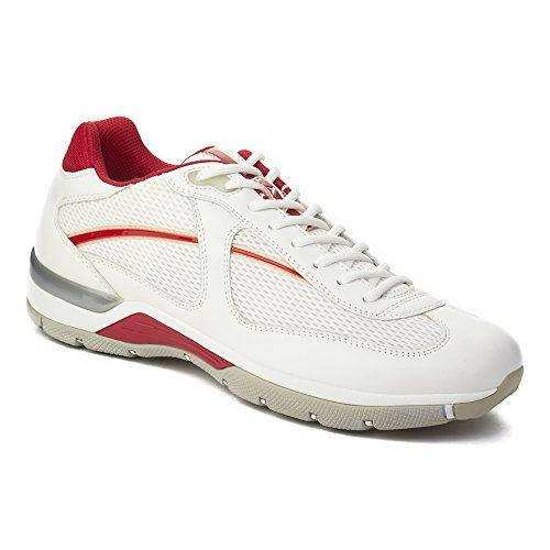 Prada Sport Heren Leren Lage Sneaker Schoenen Wit