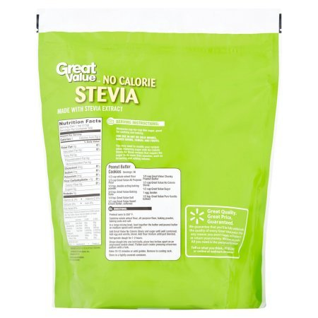 Great Value Granulated No Calorie Stevia Sweetener, 9.7oz Resealable Pouch (Pack of 4) by Great Value (Image #2)
