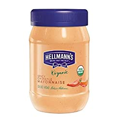 Hellman\'s Organic Spicy Chipotle Mayonnaise (Pack of 2) 15 oz Jars