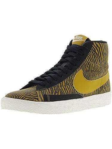 Nike Gold Blazers (Nike Women's Blazer Mid Suede Print Black/Gold - 6.5M)
