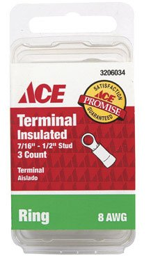 Pk/3: Ace Insulated Ring Terminal (3206034)