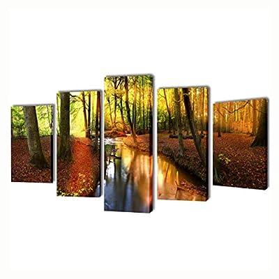 "K&A Company Poster, Print, Visual Artwork, Canvas Wall Print Set Forest 79"" x 39"""