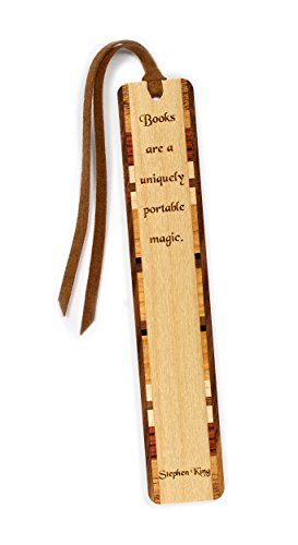 Stephen King Quote Engraved Wooden Bookmark with Tassel