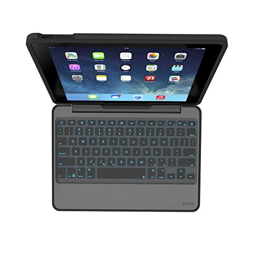 ZAGG Rugged Book Durable Case, Hinged with Detachable Backlit Keyboard for iPad Air - Black by ZAGG (Image #11)