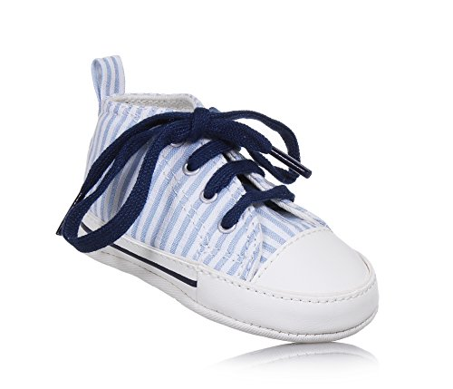 Converse Krippe Schuhe Turnschuhe 861011C CTAS First Star Hallo Weiß / hellblau