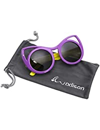 Cat eye Style Kids Polarized Sunglasses Flexible Rubber...