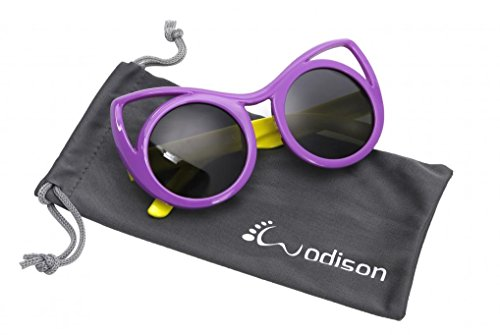 WODISON Cat eye Style Kids Polarized Sunglasses Flexible Rubber for Age 3 to - Cat 3 Sunglasses