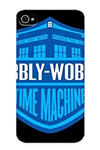 New Premium Eatcooment Wibblywobbly Time Machine Skin Case Cover Design Ellent Fitted For Iphone 4/4s For Lovers