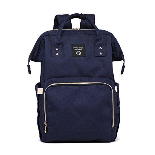 Bolso coreano de la momia de la manera, bolso de hombro, bolso de múltiples funciones de la madre de gran capacidad, vaya el morral, bolso del bebé de la madre ( Color : Pink ) Azul
